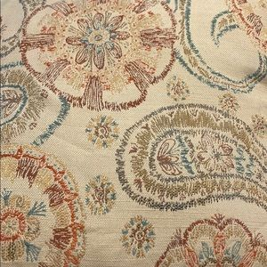 Accents - Paisley and floral throw pillow 20x20 multi color